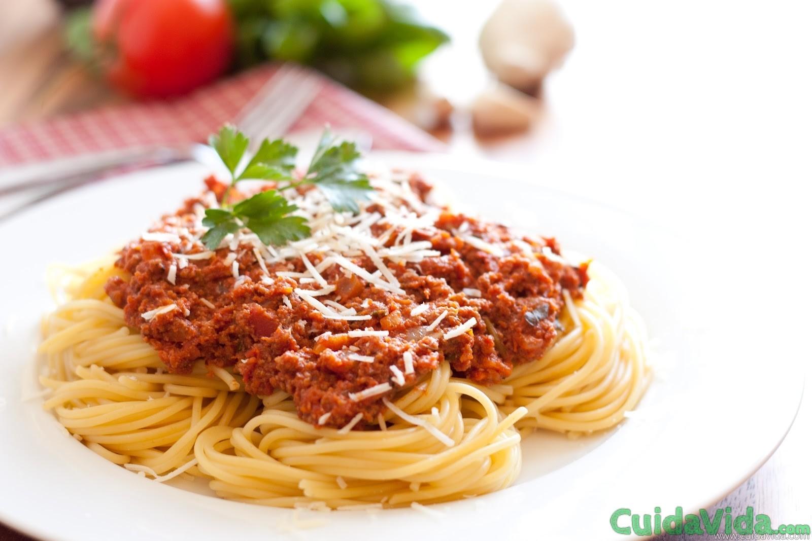 Como calcular las calorías de un plato de espaguetis a la boloñesa