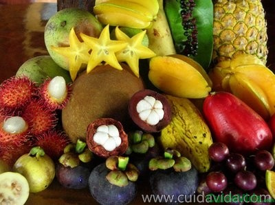 La fruta exótica no es muy natural para nuestra tierra