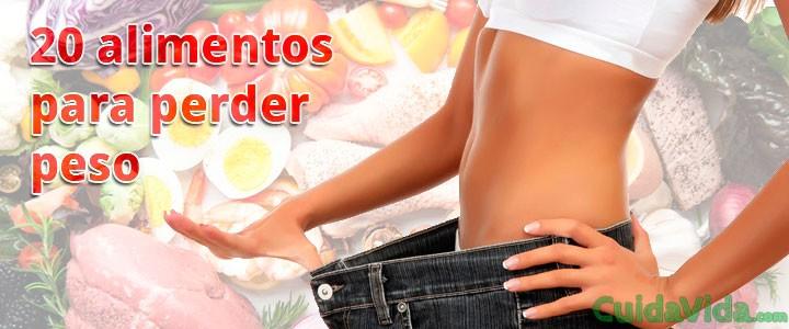 Los 20 mejores alimentos para perder peso