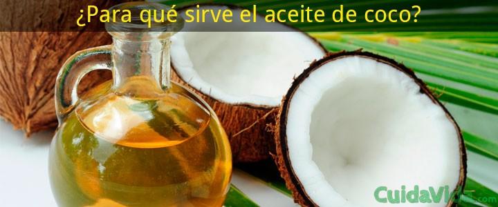 Para qué sirve aceite coco