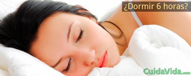 Dormir 6 horas es malo para la salud
