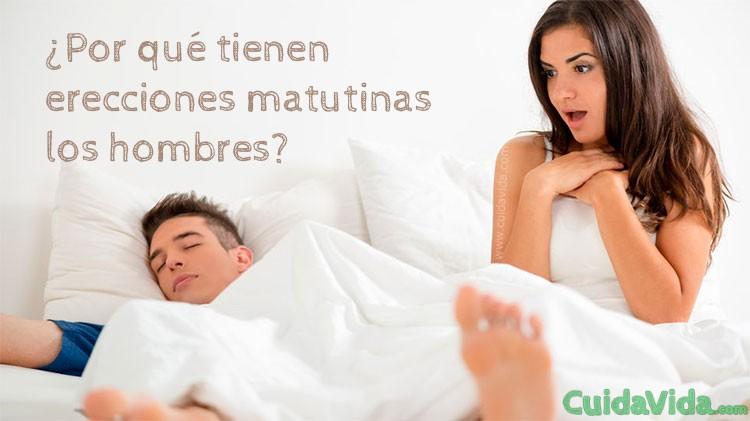 Por que tienen erecciones por la mañana cuando se despiertan