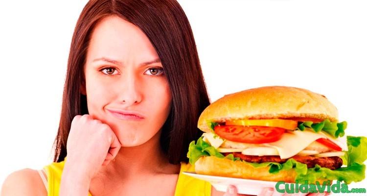 Cómo ganar peso hamburguesa