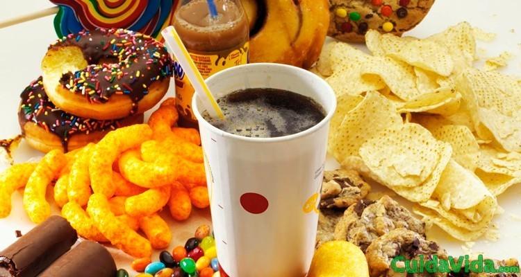Lista todos alimentos calorias vacias